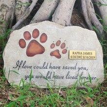 Pet Memorial Stones Personalized Dog Cat Memorial Stones Tombstones Outdoors or Indoors for Garden Backyard Grave Markers