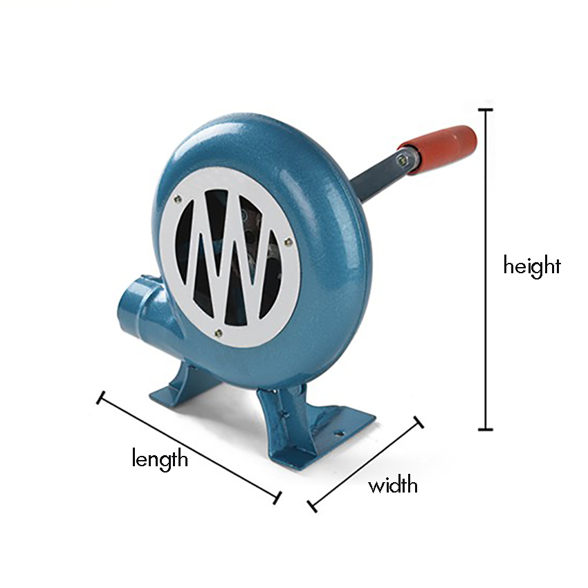 80W/120W/150W Hand Crank Fan Air Blower Iron Gear Manual Grill Fire Starter Flame Exciter For BBQ Picnic Outdoor Camping Hiking