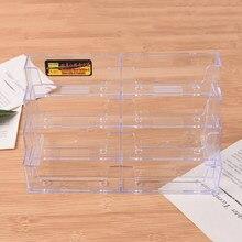 Soporte de tarjetas de negocios para oficina, Mostrador de acrílico transparente, 8 bolsillos, soporte de exhibición, suministros domésticos para oficina