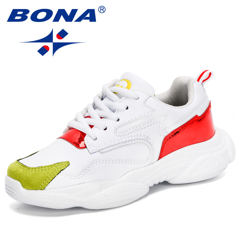 BONA 2020 New Designers Trendy Children Sneakers Sport Shoes Child Leisure Trainers Casual Footwear Kids Outdoor WAlking Shoes