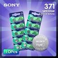 Батарейки кнопочные Sony 45 мАч 1,55 в AG6 371 SR920SW LR920 171 370 L921 LR69 SR920, 10 шт.