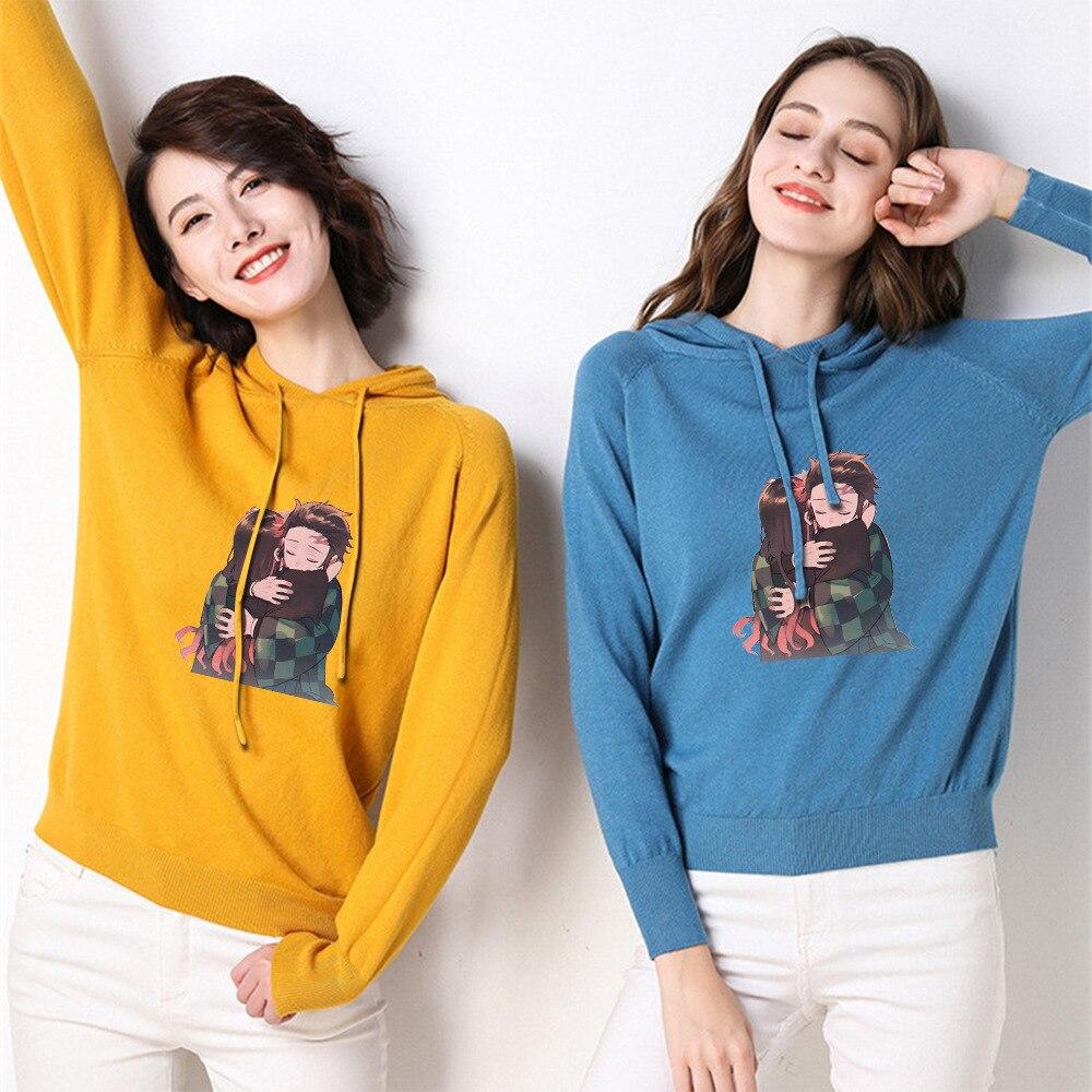 Demon Slayer: Kimetsu No Yaiba European And American Women New Large Size Sweater Sweater Female Youth Fashion Hooded Sweater