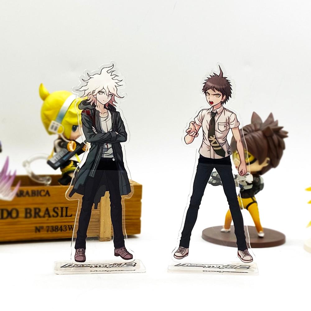 Danganronpa 2 Hinata Hajime Komaeda Nagito HM Acrylic Stand Figure Model Plate Holder Cake Topper Anime Japanese