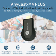 Anycast M4plus Chromecast 2 Mirroring Multiple TV Stick Adaptor Mini Android Chrome Cast WIFI HDMI Dongle 1080P Setiap Cast(China)