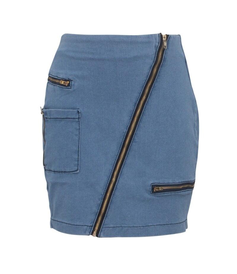 Women Sexy Zipper Casual Mini Denim Skirt Female Elegant vintage Bodycon skirt Basic Pocket Jeans Skirt high waist pencil skirt in Skirts from Women 39 s Clothing