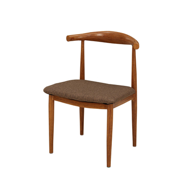 Imitation wood iron horn chair back stool Nordic dining chair minimalist coffee shop restaurant table and chair