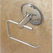 Присоска для туалета без бурения серебро Нержавеющая сталь настенное крепление рулон бумаги для ванной держатель кухня нержавеющий отель прочный