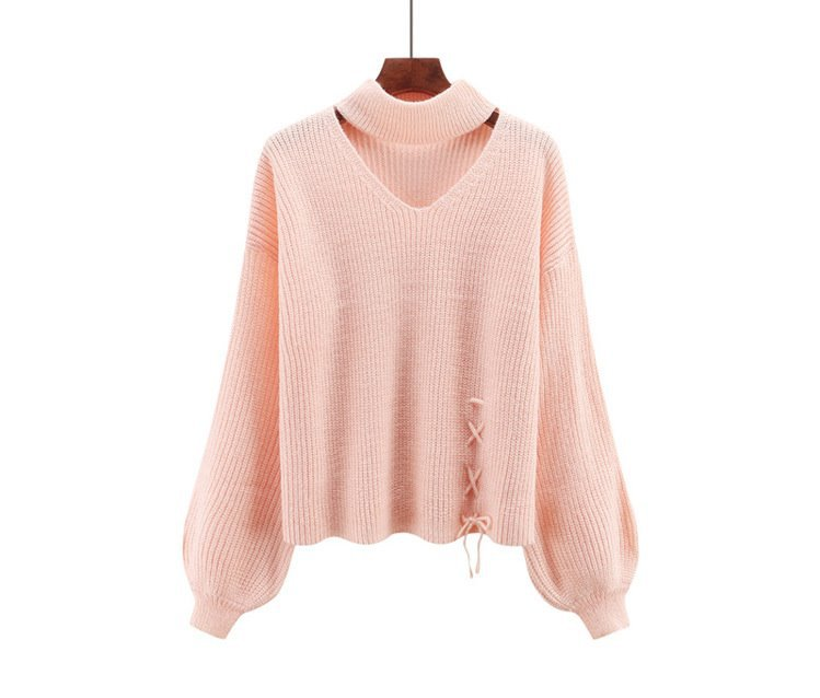 CHRLEISURE Women's Sweaters Winter V-neck Sexy Women's Knitted Jacket Trend Bandage Winter Clothes Women 8