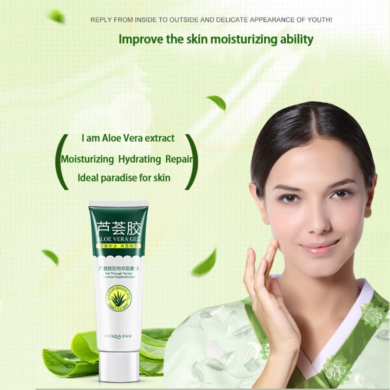 Aloe Vera Gel Skin Care After Sun Face Cream Hyaluronic Acid Anti Winkle Whitening Moisturizing Acne Treatment Cream 40g