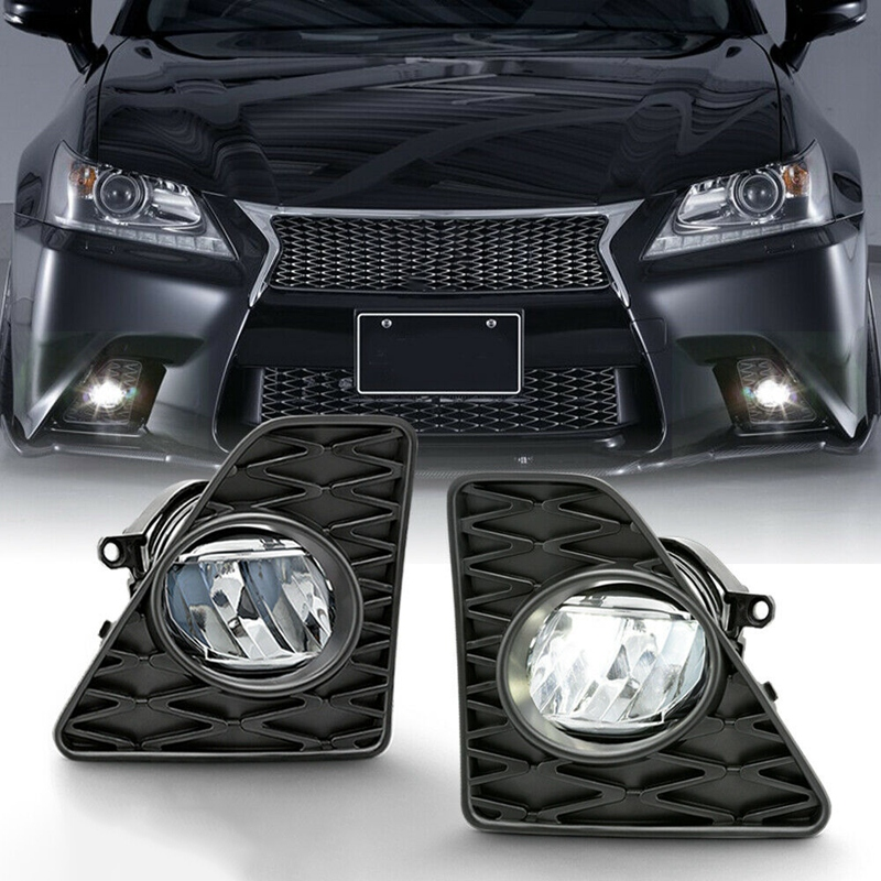 2Pcs LED Bumper Fog Lights Lamps With Switch Set For Lexus GS350 F-Sport 2013-2015 8122012230 8121012230