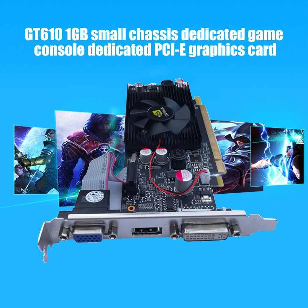 كرت فيديوهات PNY NVIDIA GeForce VCGGT610 XPB بمساحة 1 جيجابايت DDR3 SDRAM PCI Express 2.0