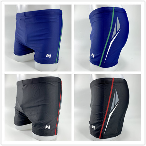 New Swimmer Swimming Trunks Men Boxer Quick-Dry Anti-Awkward Adult Bubble Hot Spring Industry-Style Swimming Trunks