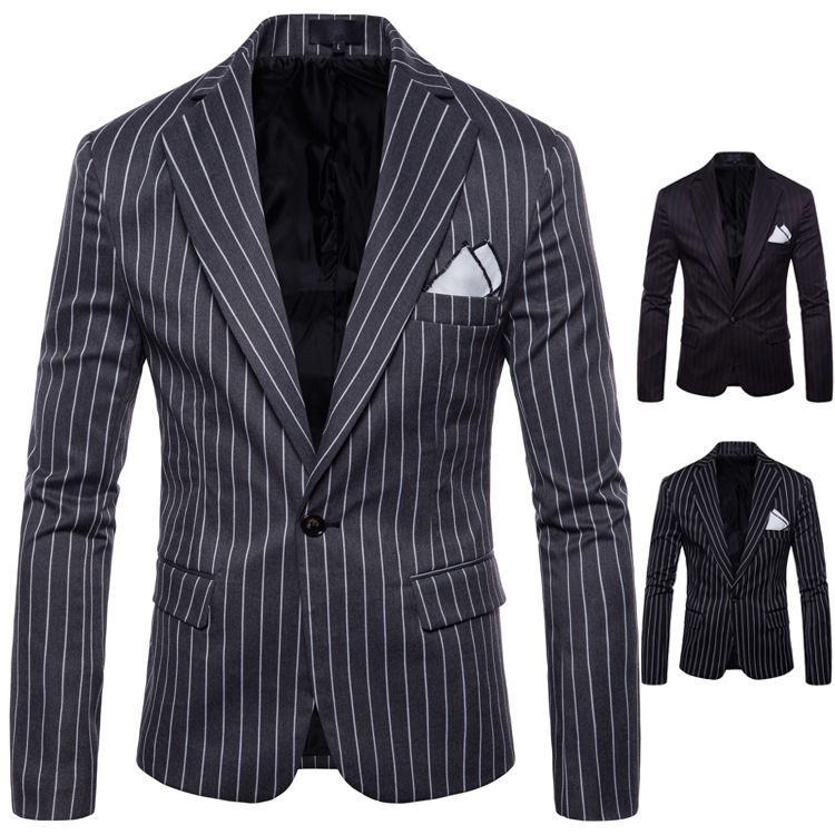2019 High Quality Spring Suit Men Fashion Men Blazer Slim Male Suits Casual Suit Jacket Wedding Blazer Casaco Masculino