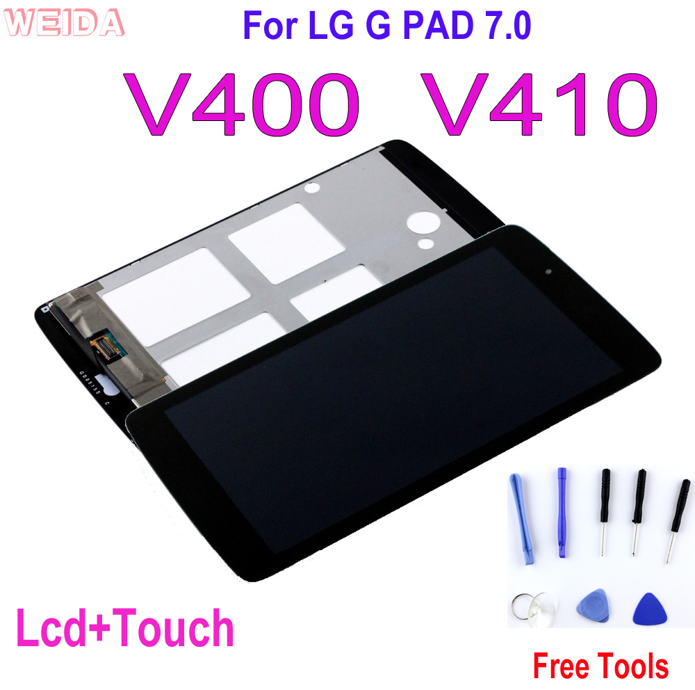 Original 7.0'' LCD For LG G PAD 7.0 V400 V410 LCD Display Touch Screen Digitizer Assembly Replacement LG V400 LCD No Dead Pixel