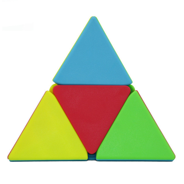 QIYI 2x2 Pyramid Cube Stickerless Magic Cubes Professional 2x2x2 Puzzle Speed Cube Educational Toys For Children 6