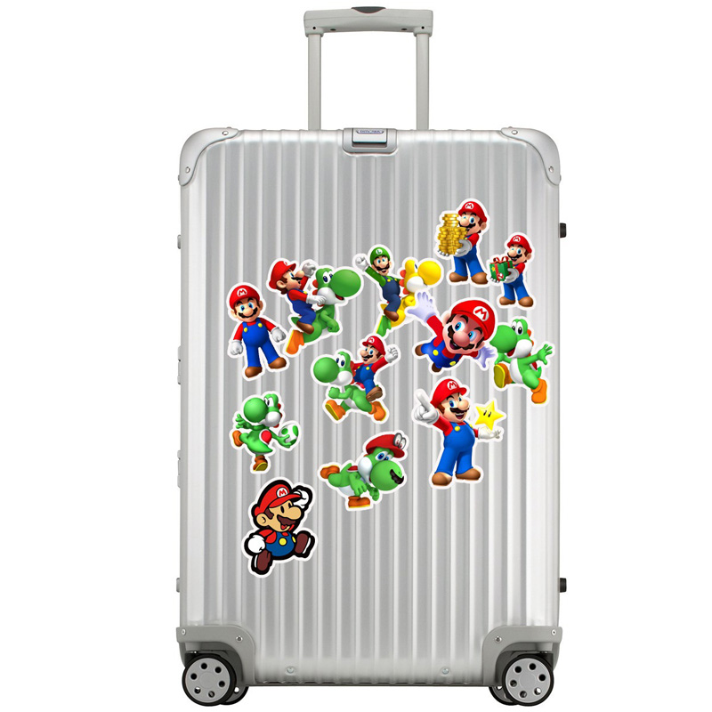50Pcs Pack Super Mario Stickers Cartoon Graffiti Pegatinas For Motorcycle Notebook Laptop Luggage Bicycle Skateboard Kid Sticker