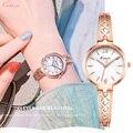 Kimio marca de luxo feminino pulseira relógios moda feminina vestido relógio de pulso senhoras quartzo esporte rosa ouro dropshiping k6410s