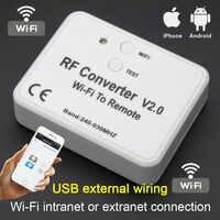 Universal WiFi schalter fernbedienung 433MHz 868MHz WiFi zu RF Konverter multi frequenz rolling code garagentor fernbedienung control