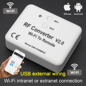 Rf-Converter Garage-Door Rolling-Code Wifi Multi-Frequency Universal 868mhz 433mhz To