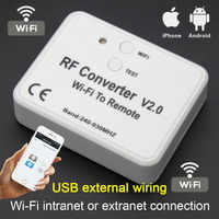 Universal WiFi switch remote control 433MHz 868MHz WiFi to RF Converter multi frequency rolling code garage door remote control