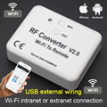 Universal wifi interruptor de controle remoto 433 mhz 868 mhz wi fi para rf conversor multi freqüência rolamento código da porta garagem controle remoto