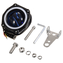 цена на Mayitr 3 Light LED 9-32V 20W 1800LM Work Light Spot Angel Eye Driving Fog Lamp Car Off-road 6000K