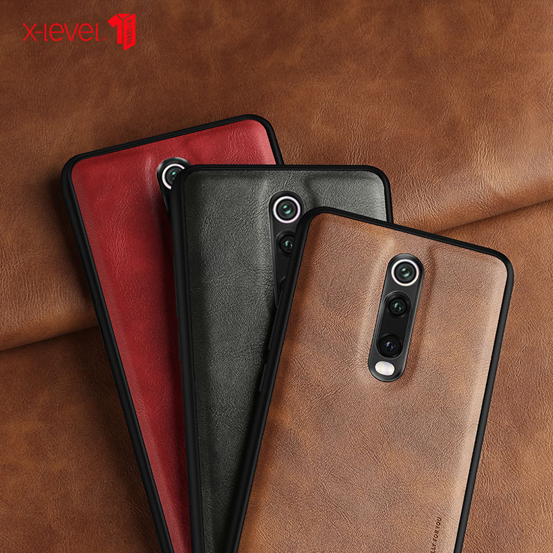 For Mi 9T Pro Case Retro Leather Soft Silicone Edge Back Cover For Redmi K20 Pro Note 8 Pro Coque Quality Drop Shipping