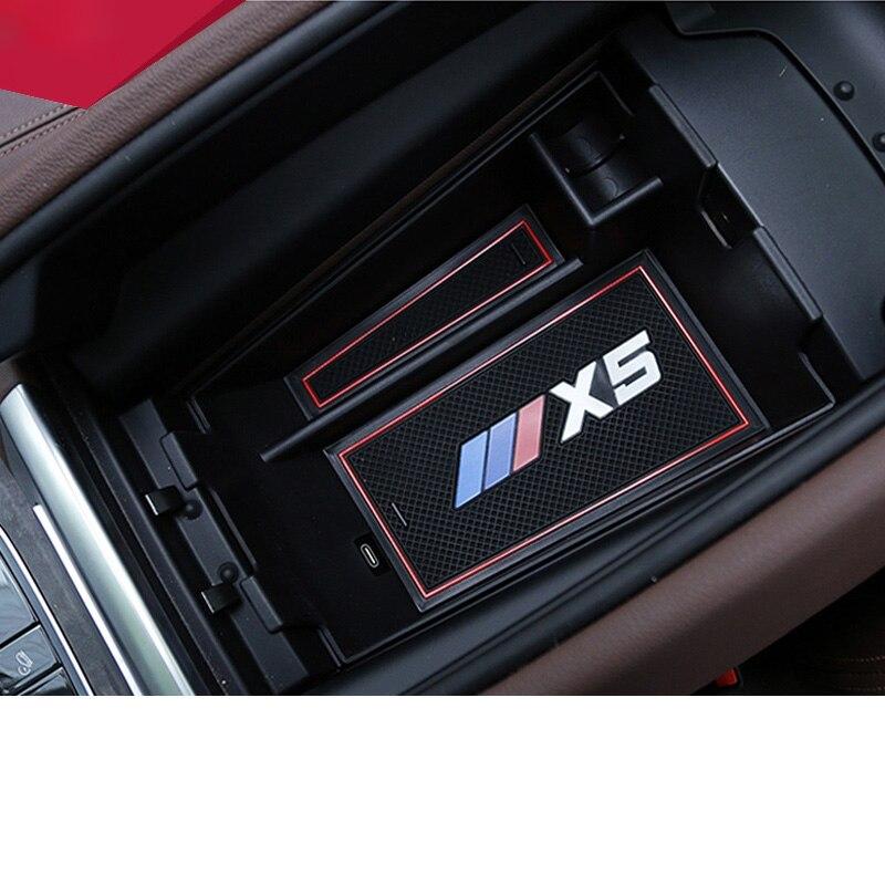 >Lsrtw2017 for Bmw X5 G05 <font><b>Car</b></font> <font><b>Central</b></font> <font><b>Control</b></font> Armrest Storage Plate Box Interior Accessories 2018 2019 2020 2021