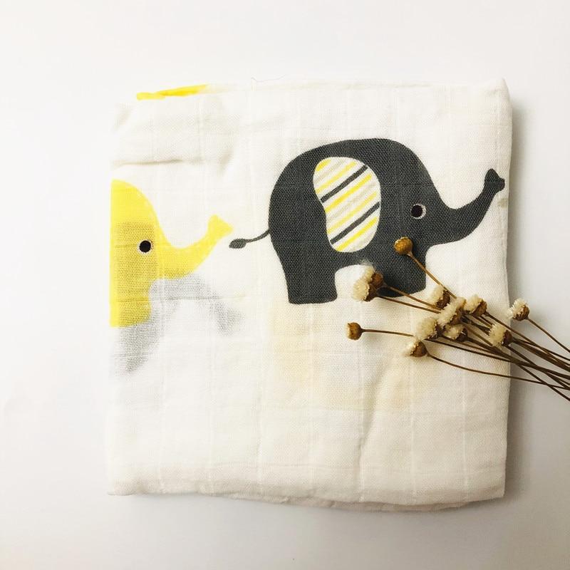 Детское бамбуковое одеяло из органического хлопка для новорожденных, муслиновое Пеленальное полотенце для кормления - Цвет: elephant bamboo