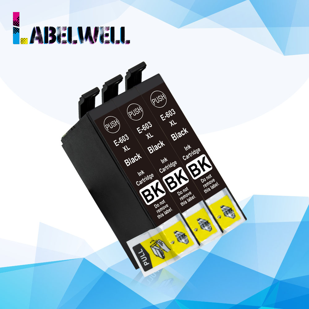 Labelwell BK 603 XL 603XL Europe ink cartridge replace for <font><b>Epson</b></font> WF-2810 WF-2830 WF-2850 <font><b>XP</b></font>-<font><b>2100</b></font> <font><b>XP</b></font>-2105 <font><b>XP</b></font>-3100 <font><b>XP</b></font>-3105 printer image