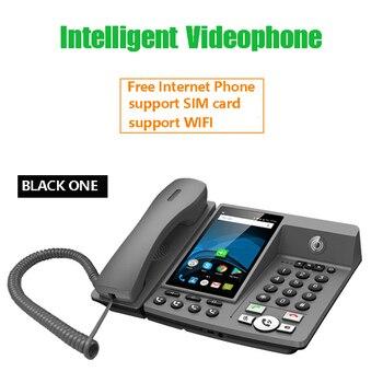 Эндрюс Smart Network видео фиксированный телефон с идентификатором вызова SMS wifi запись адресная книга черный список для домашнего офиса Бизнес