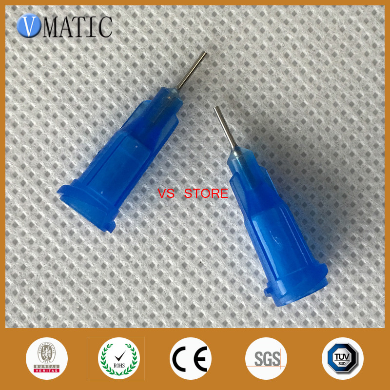 Free Shipping Non-Sterilized 100Pcs 0.25'' 22G Glue Dispensing Needle Tips 1/4 Inch