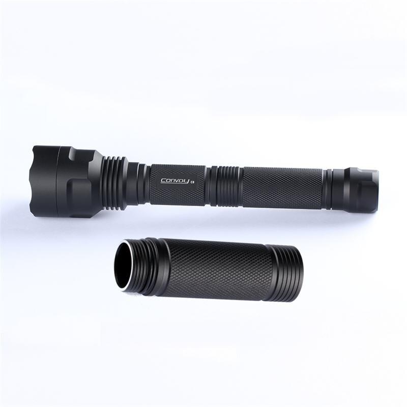 DIY C8 linterna UV tubo de extensión del cuerpo para 1 Uds 18650 batería linterna focos accesorios de la lámpara Casco táctico linterna soporte negro linterna Stents exterior escalada F2 casco linterna titular ACCESORIOS DE CASCO