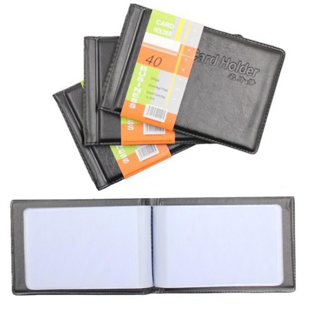 PU Leather 40 Cards ID Credit Card Holder Book Case Keeper Organizer Passport Credit Card Case Business Men Women Vintage Bag