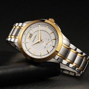 Image 2 - Relojes de negocios Retro para hombres, reloj de cuarzo de marca de lujo de zafiro, reloj impermeable de acero inoxidable informal para hombres, reloj Masculino
