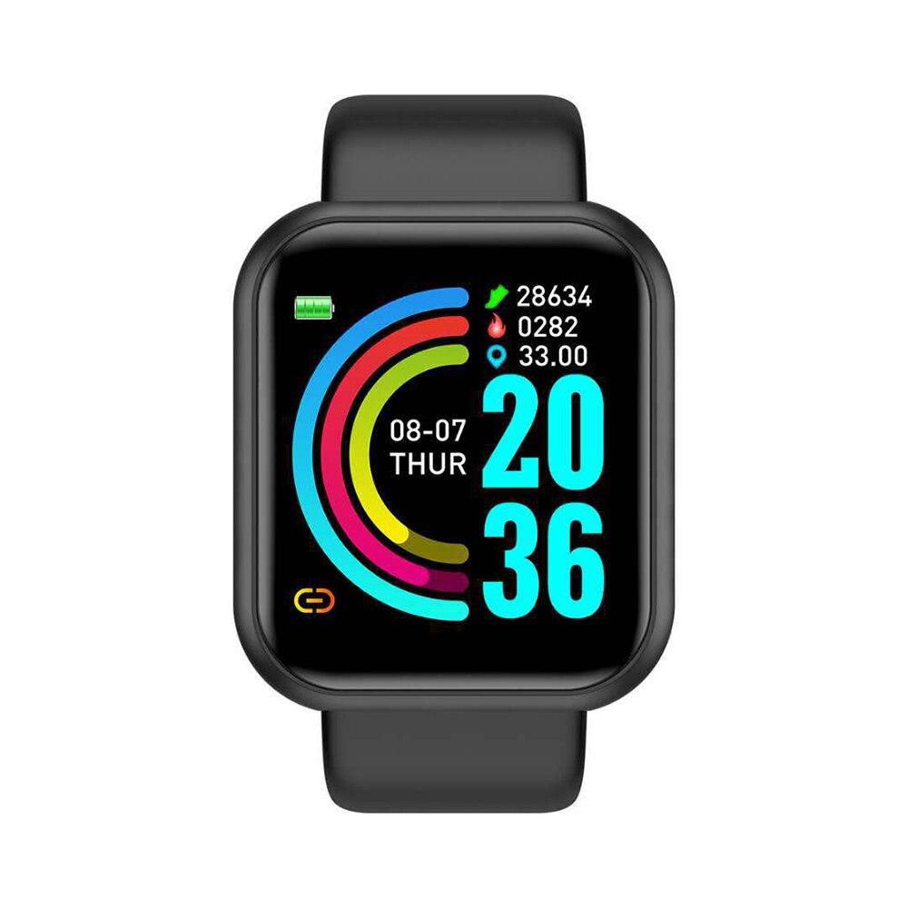 Y68 Smart Watch uomo orologi da polso Smartwatch orologio elettronico Fitness Monitor uomo regalo Reloj inteligente per Huawei Relogio SB001 2
