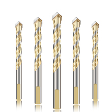 5pcs Tile Drill Bits Triangle Tile Drill bits Woodworking Ceramic Concrete Tungsten Carbide Drill Power tool Accessories 6-12mm