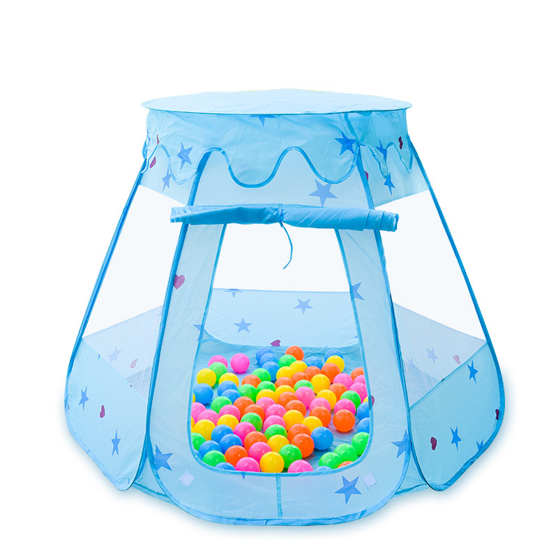 Children's Cartoon Plastic Game Ball Pool Guardrail Environmental Protection Safety Breathable Mesh Folding Children Fence