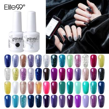 Elite99 Gel Polish Farbe UV Gel Lack Lang Anhaltende Nagellack Tränken Weg Top Basis Mantel Gelpolish LED Lampe UV nagel Gel Lack
