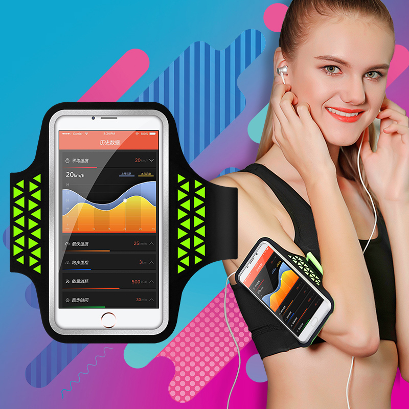 HAISSKY 5.0 Inch Sports Armbands Case Portable GYM On Hand Running Bag Belt Touch Screen Phone Pouch For IPhone Samsung Xiaomi