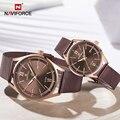 NAVIFORCE парные часы Роскошные бизнес влюбленные наручные часы 30 м водонепроницаемые мужские и женские Кварцевые Золотые часы мужские Relogio ...