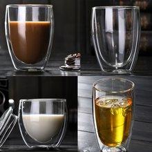 Термостойкие двухслойные изолированные стеклянные кружки для эспрессо латте кофейные стеклянные es/виски/кофейная чашка/чайная кружка