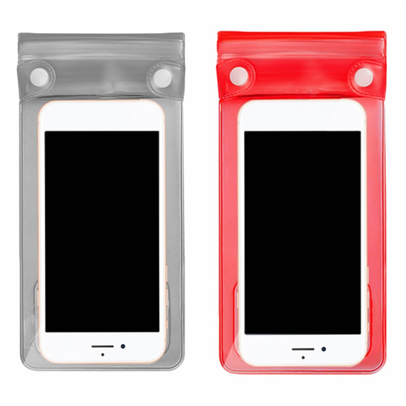 Waterproof Swimming Phone Case Cover Universal Smartphone Pouch Wallet Packing Bag Underwater Surfing Storage Bag With Lanyard