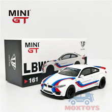 MINI GT 1:64 LBWK LB performans BMW M4 beyaz W/ M şerit RHD pres döküm Model araba