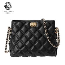 LAORENTOU Embroidery Thread Small PU Leather Crossbody Bags for Women 2021 Hand Bag Women's Branded Trending Shoulder Handbags