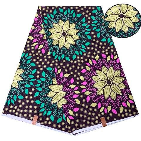 Tecido de Impressão Tecido em Estoque Nova Chegada Moda Africano Holandês Verdadeiro Bloco Ancara Dashiki Cera