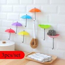 Sticky Hook Utensils Kitchen-Accessories Umbrella-Hook Bathroom Gadgets Wall-Hanging-Storage