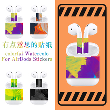 Camouflage Sticker DIY Vinyl Decal Colored Skin Earphone Earbuds For Apple AirPods 1 2 Wired Charging Case Box