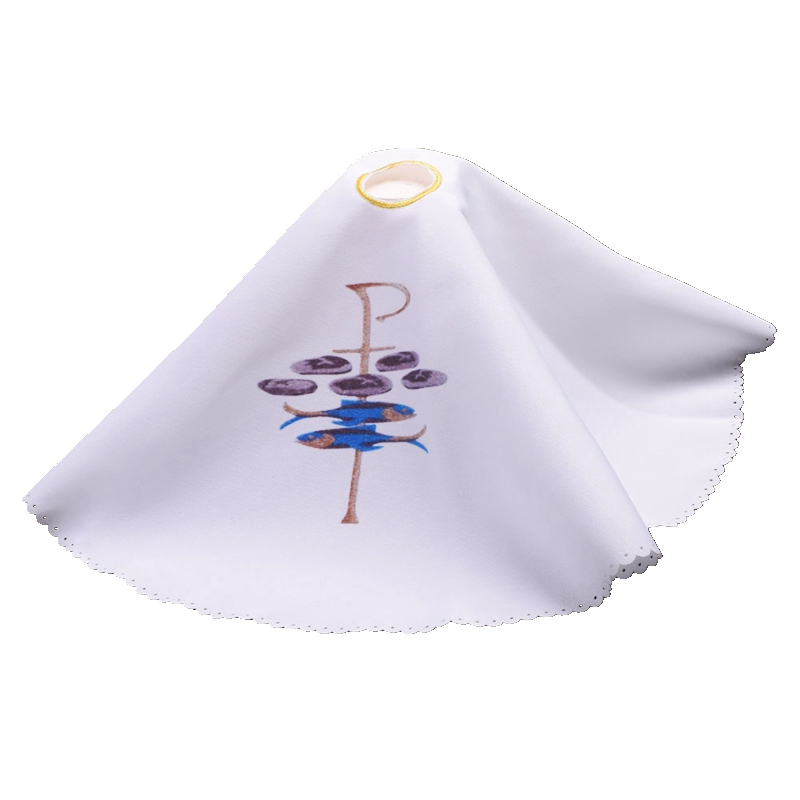 Catholic Church Clergy Purificator Altar Cloth Chalice Veil Flower Lily Printed Pall Cover