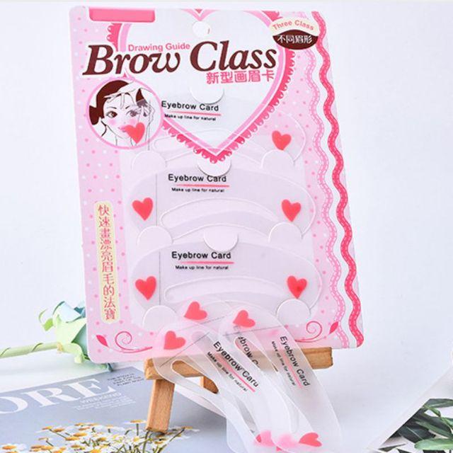 Easy to Use 3Pcs/set Thrush Card Threading Word Eyebrow Makeup Tools Threading Artifact Thrush Card Eyebrows Mold 3